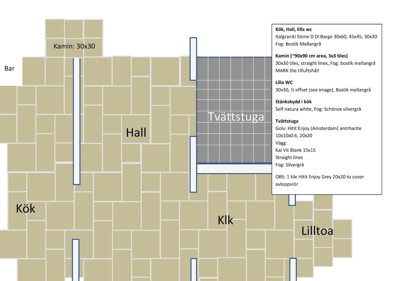 Basta Golvet I Kok Och Hall : Villa Linderholm Klinker i kok, hall o badrum
