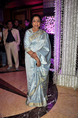 Asha Bhosale s at Sunidhi Chauhan's wedding reception