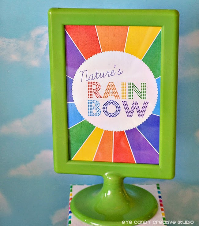 nature's rainbow, rainbow birthday, rainbow sign, green IKEA sign