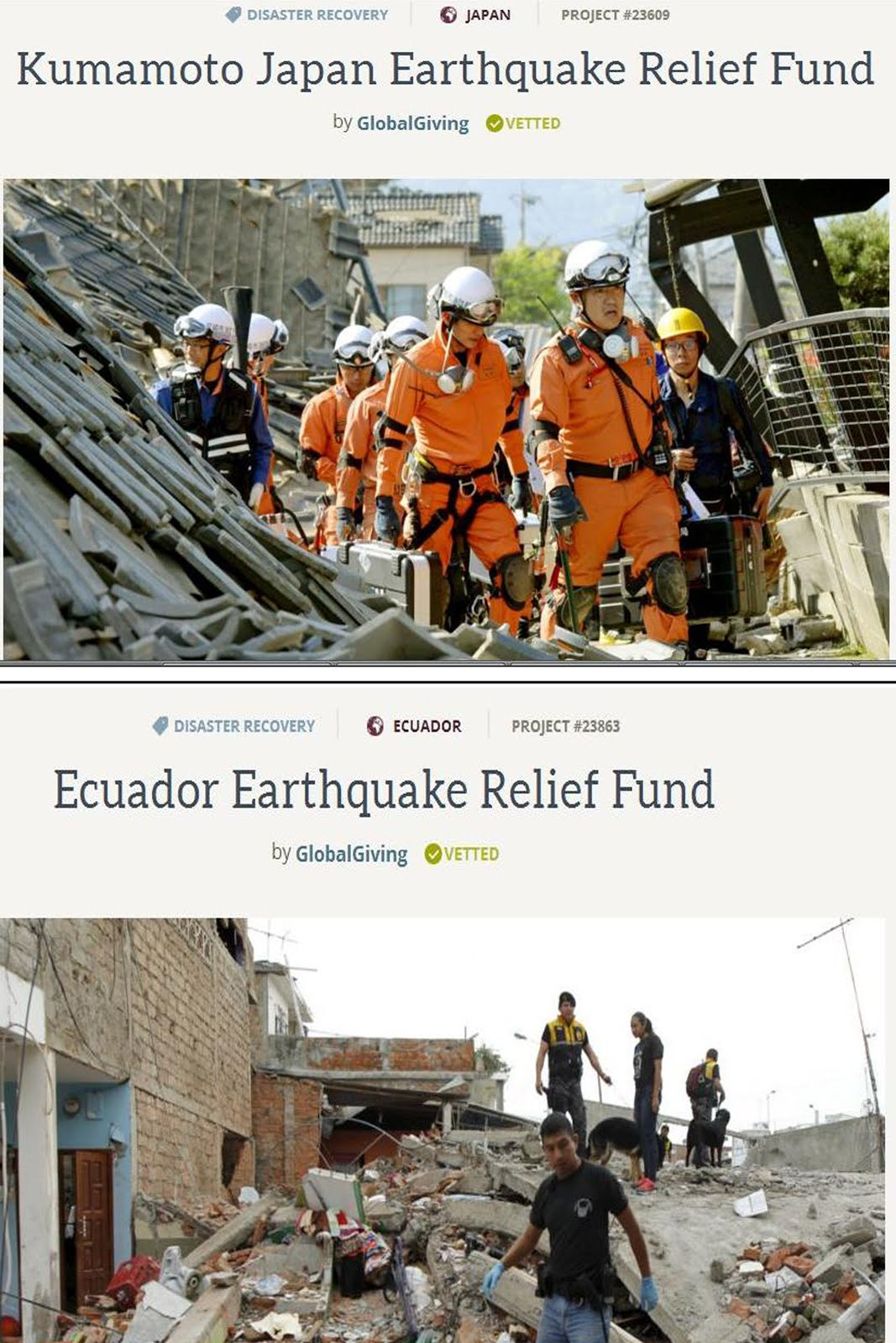 Fund Raise For Japan & Ecuador Earthquake