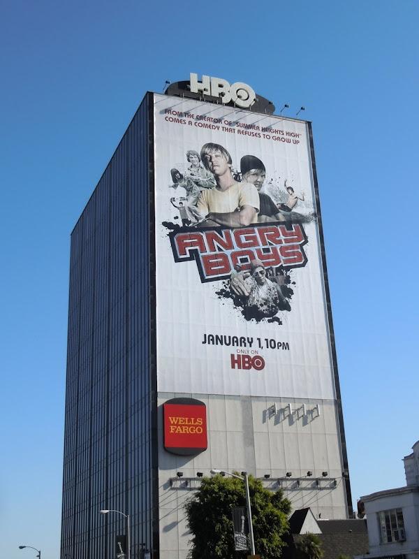 Giant Angry Boys TV billboard