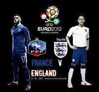 Prancis vs Inggris Euro 2012