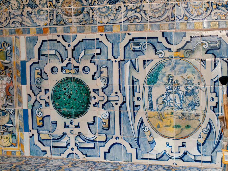 Azulejería renacentista del Monasterio de San Clemente en Toledo