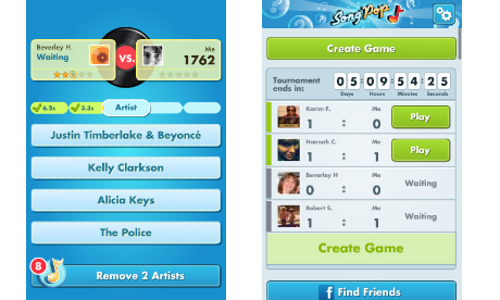 Songpop facebook gioco game