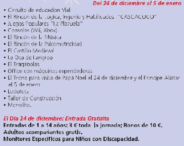 Salón de Navidad en Langreo en ocioinfantilenasturias.blogspot.com