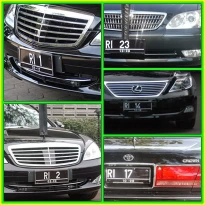 Tanda Nomor Kendaraan Bermotor Presiden dan Pejabat Pemerintahan
