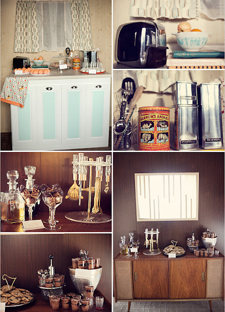 mid century modern party at home