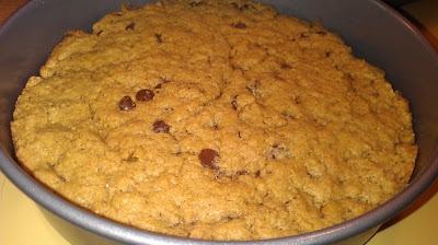 Whole wheat chocolate chip cookie cake