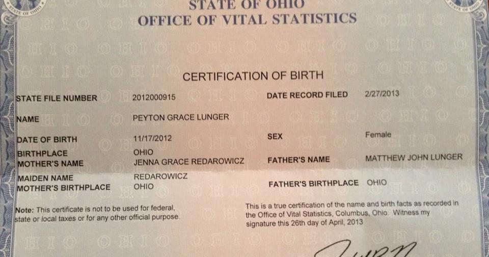 Life After Peyton Stillbirth Death Birth Certification Of Birth