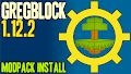 HOW TO INSTALL<br>GregBlock Modpack [<b>1.12.2</b>]<br>▽
