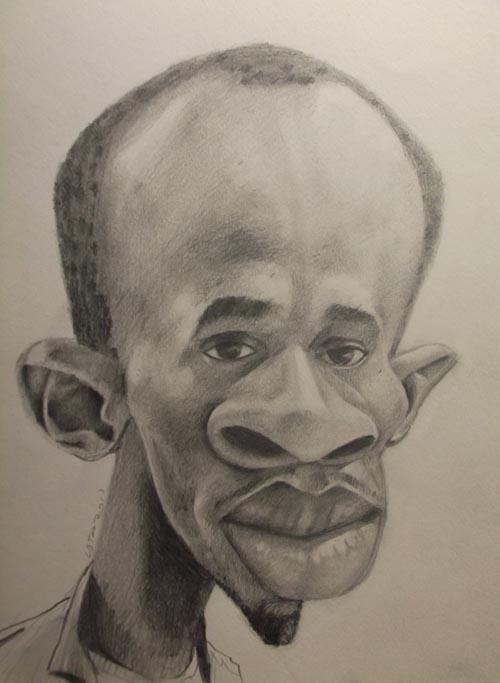 Caricatura Usain Bolt
