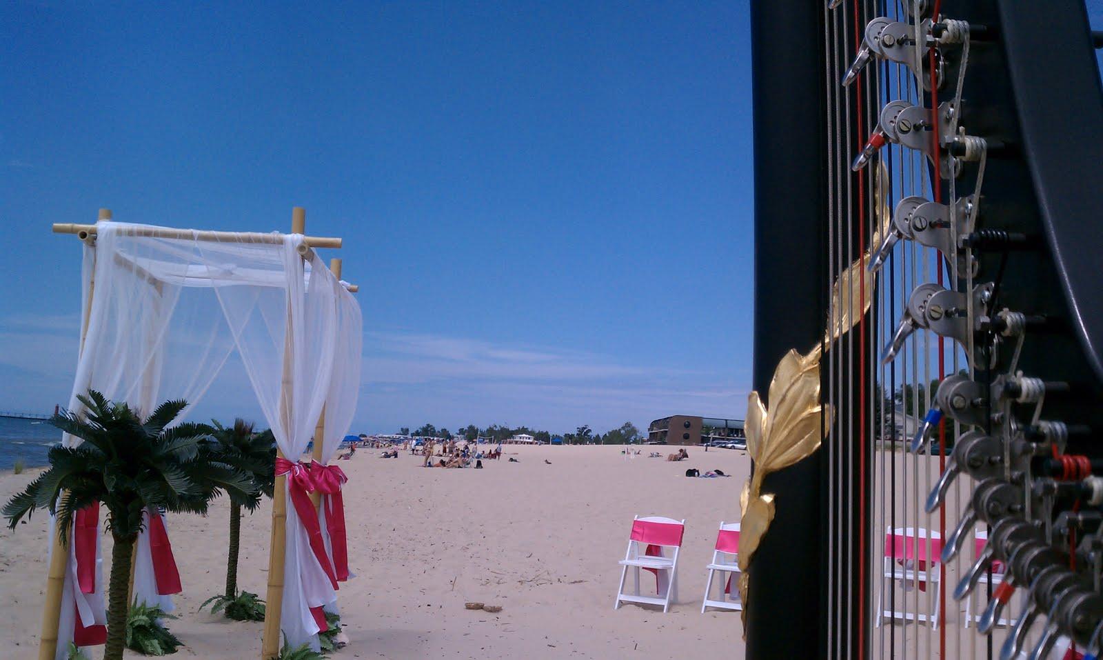Grand Haven Harpist Wedding Music On The Beach