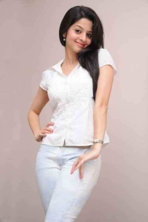 Stylish and pretty Vedhika in white