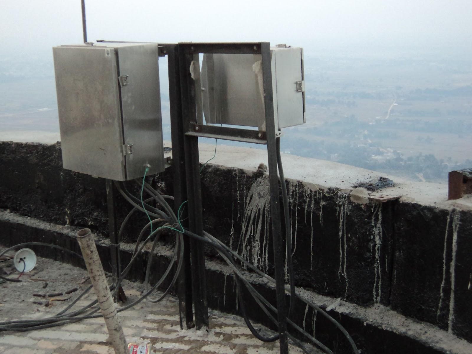 Rcc Chimney Construction : Rcc chimney electrical work