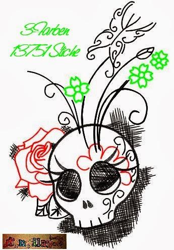 Stickdatei Skullbutterfly 13 x 18