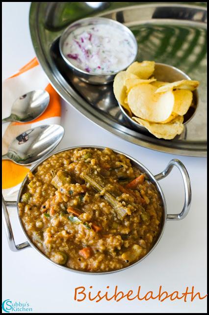 Bisibelabath (Sambar Rice)