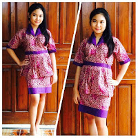 model baju batik dress online ungu