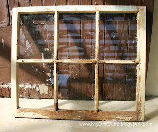 My Gra 8 Life How to Make an Old Window into a Picture Frame