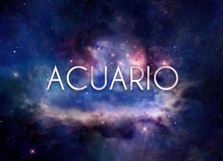 Wallpaper Signo Acuario en el espacio