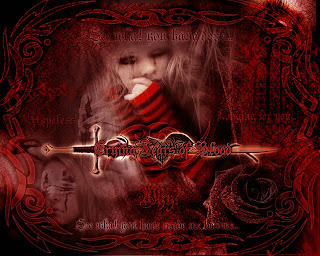 EMO Crying Tears Of Blood Dark Gothic Wallpaper