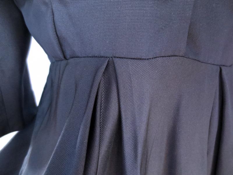Vintageklänning sidenrips kjolveck