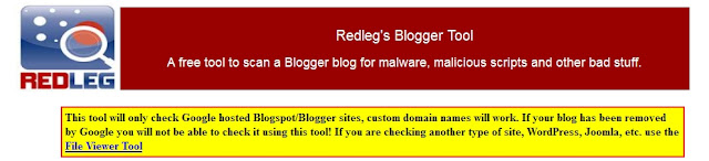 Mengesan Malware Dalam Blogspot