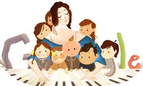 Clara Schumann google doodle, schumann piano, clara schumann piano, music appreciation, clara schumann 101