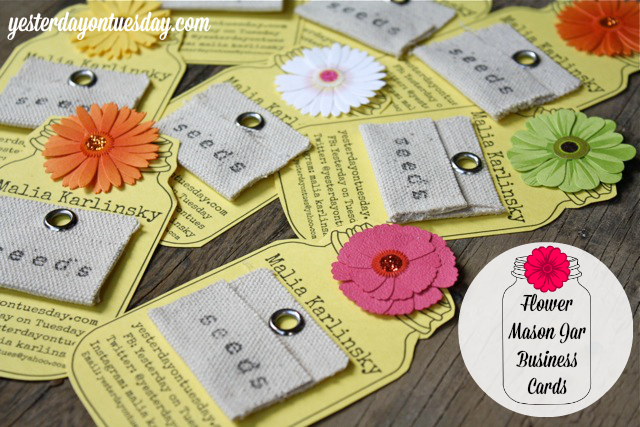 http://yesterdayontuesday.com/2014/03/flower-mason-jar-business-cards/