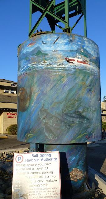 Buoy mural (2) - Ganges, Salt Spring Island, BC