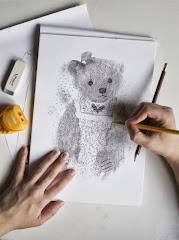 dessin au crayon de bois