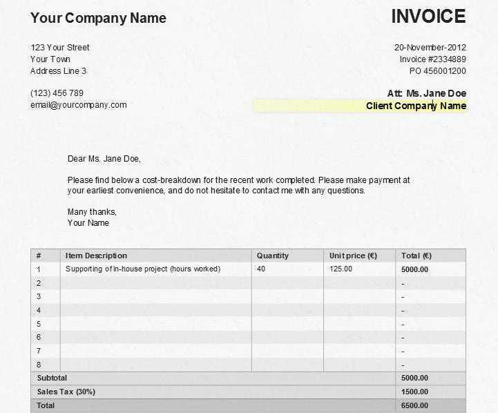 Sales Invoice Template  How To Make A Fake Invoice