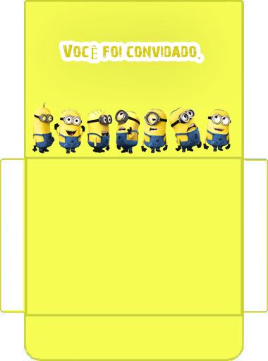 Envelope Convite  para festa dos minions