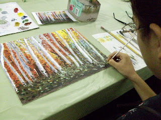 Painting with a palette knife is not as easy as it looks, but with practice it becomes less of a challenge.