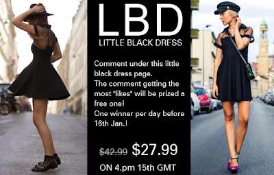romwe little black dress promotion