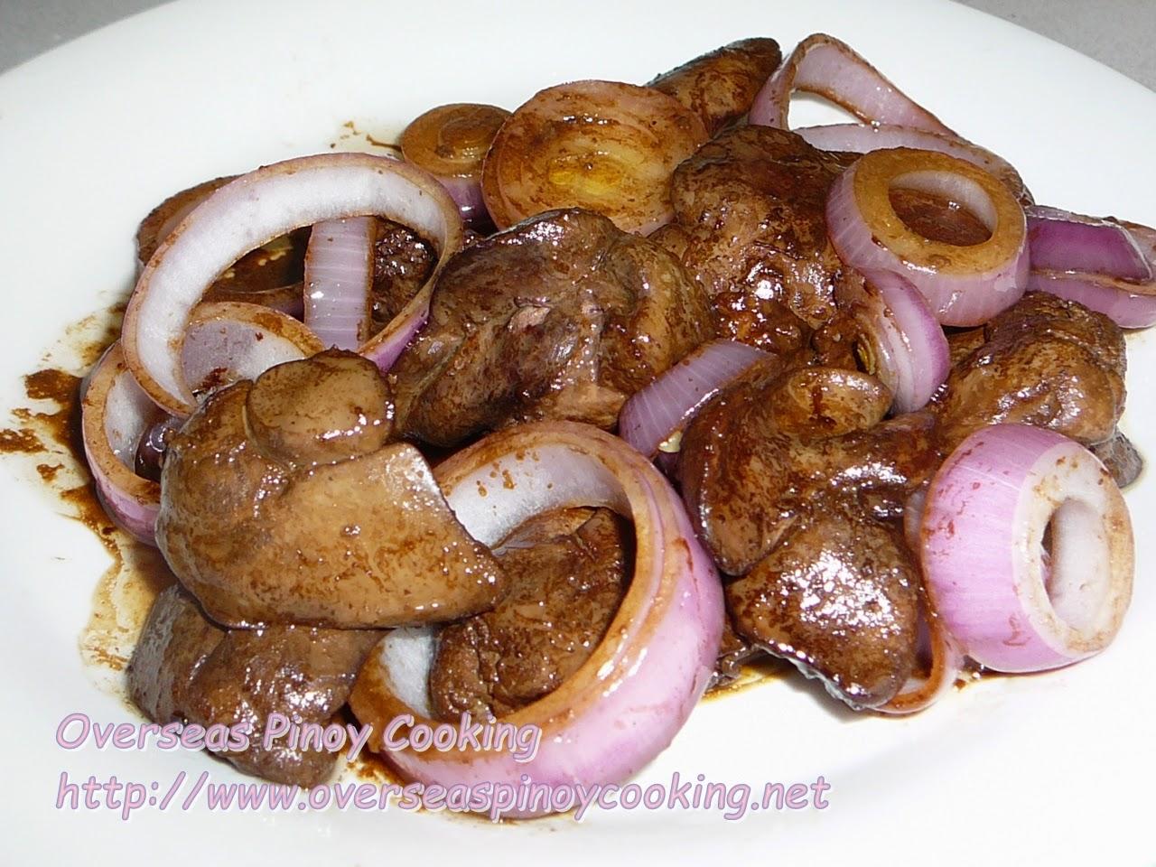 Chicken Liver, Bistek Style