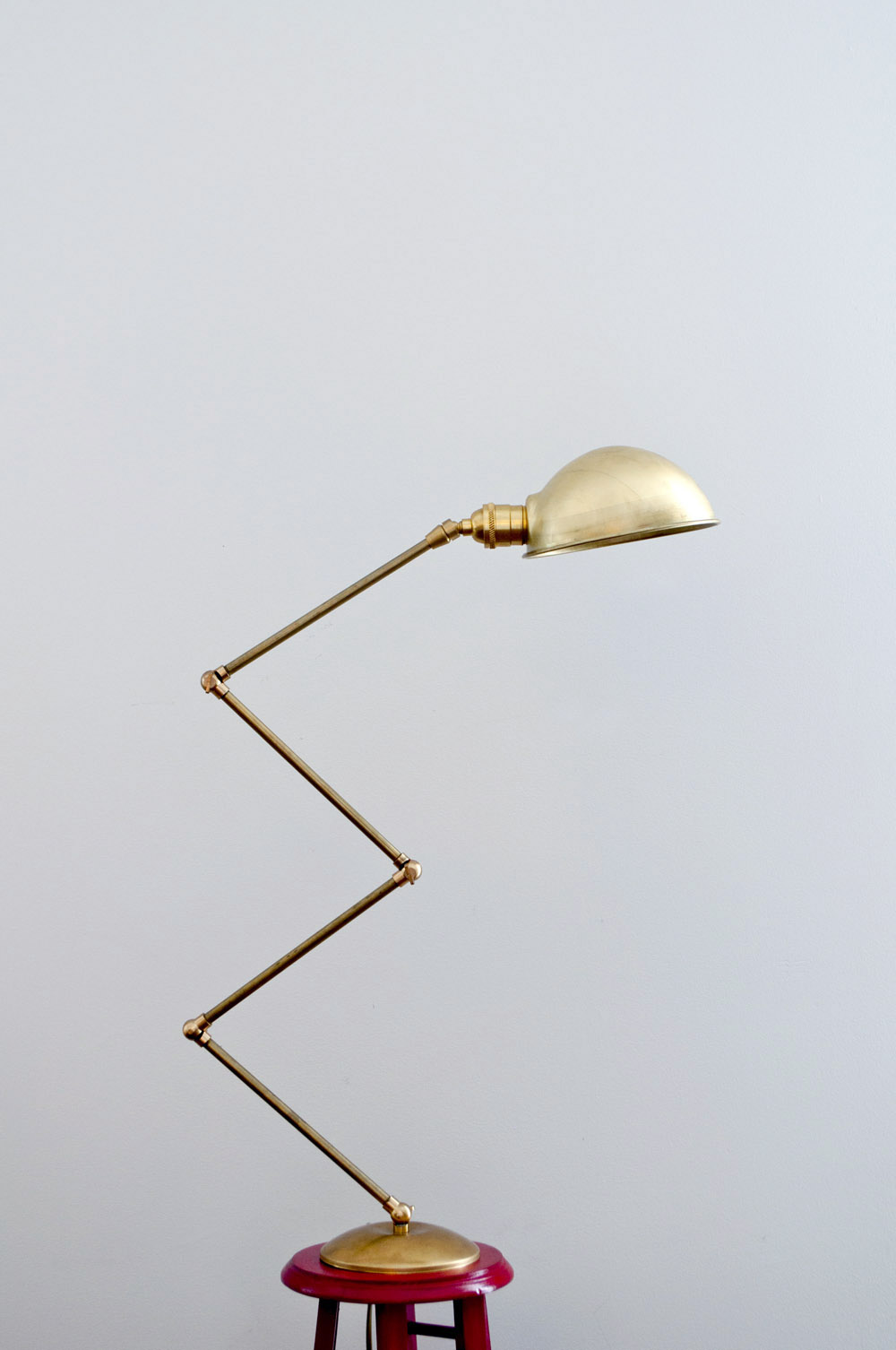 Diy brass lamp
