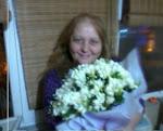 oğlumun bana getirdiği çiçekler