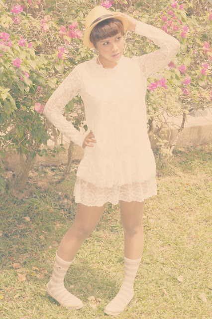 ootd,outfit of the day, mori style, mori girl fashion, vintage lace dress, cute socks, Aiko, Hapy Friends Shoppe