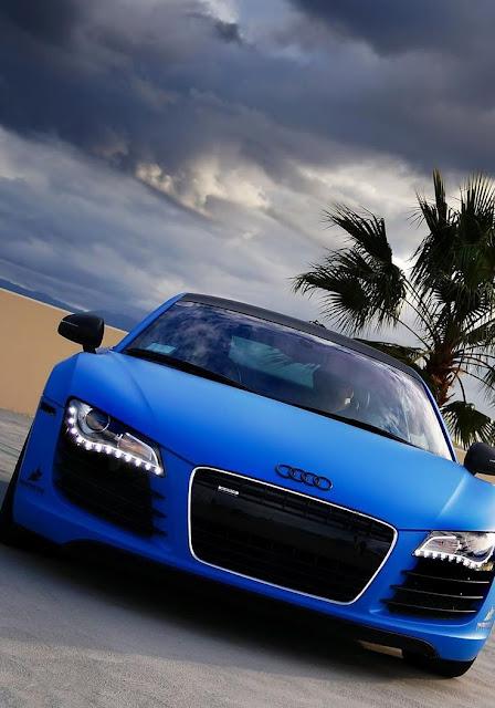 Beautiful Car Picture Audi Blue