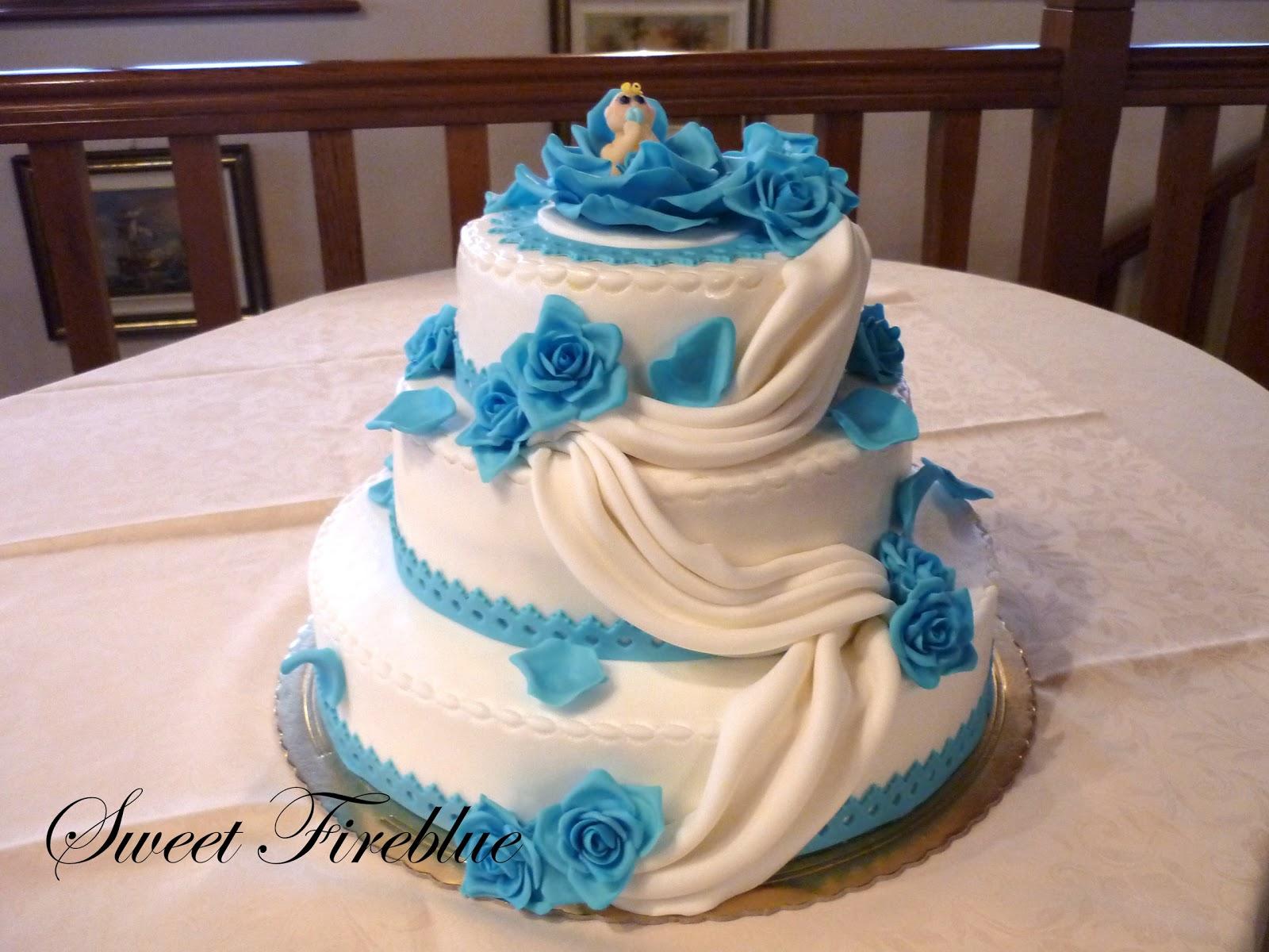 Favorito Sweet Fireblue: Torta battesimo + confetti decorati! NK56
