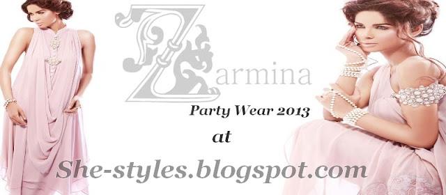 Pakistani Winter Party Dresses 2013