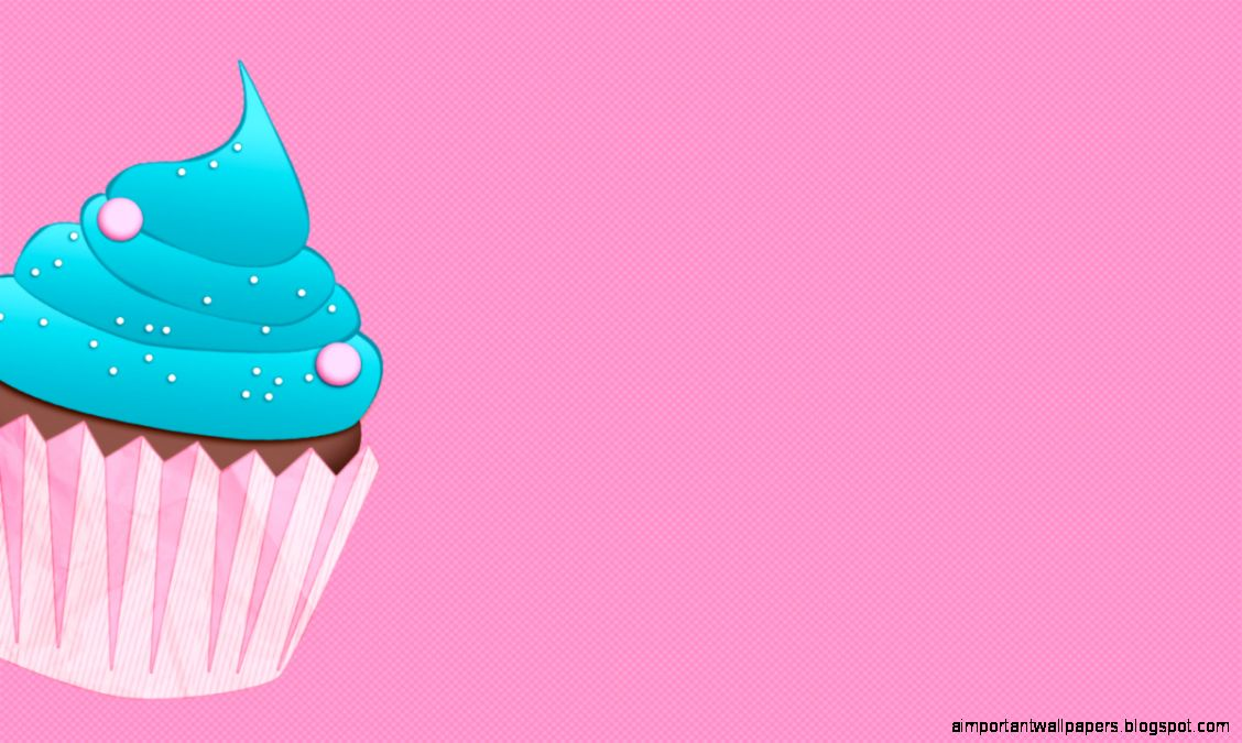 Blue Cupcake Pink Desktop | Important Wallpapers