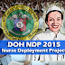 DOH Nurse Deployment Project 2015 application, updates