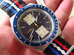 SEIKO SPEEDTIMER CHRONOGRAPH BIG BLUE - KAKUME - AUTOMATIC 6138 0030 - PART B