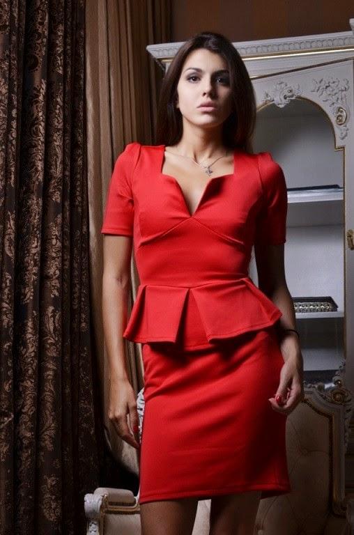 Платье верх леопардовый низ красный