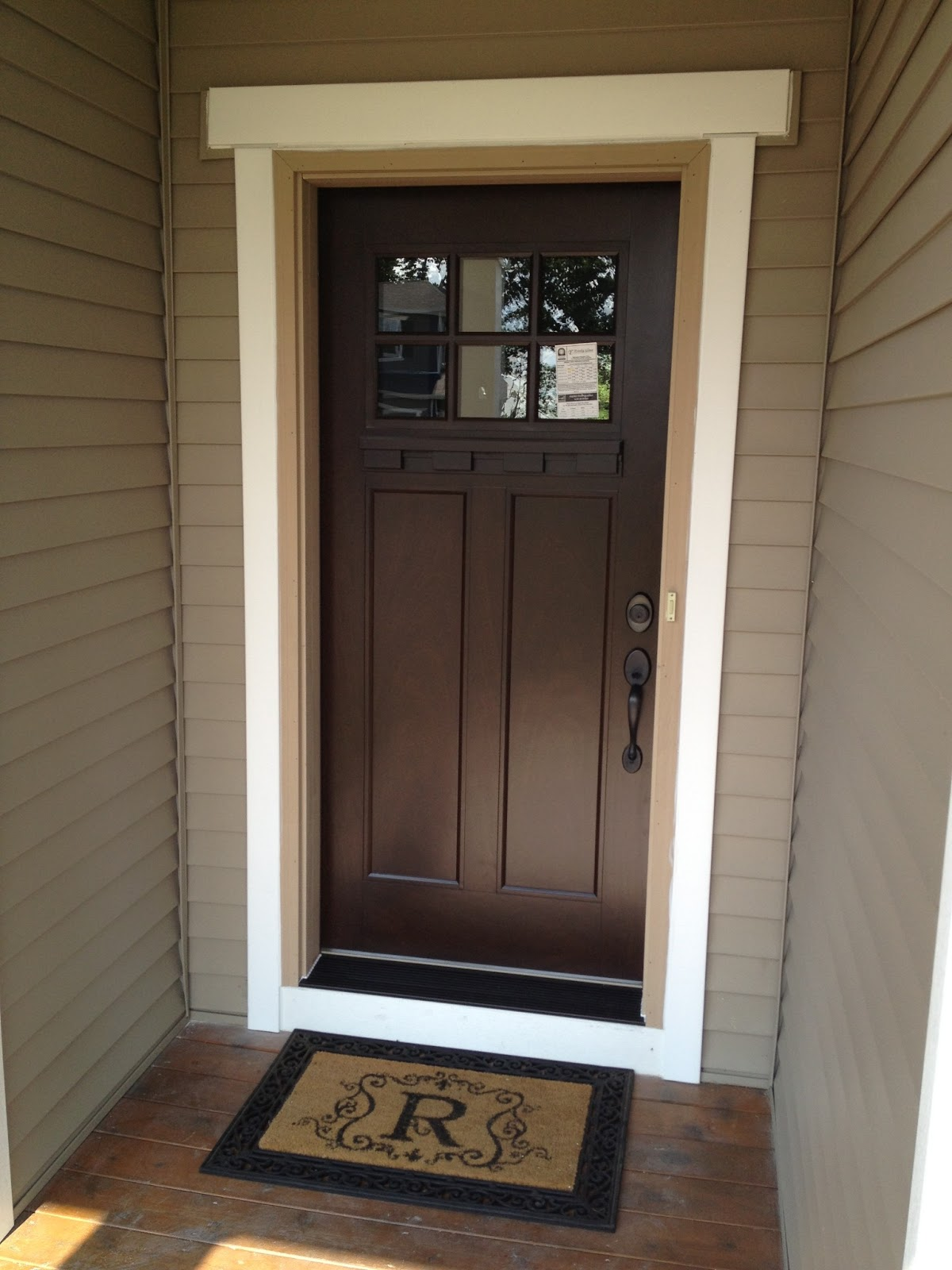 Our styled suburban life new front door for Best wood for front door