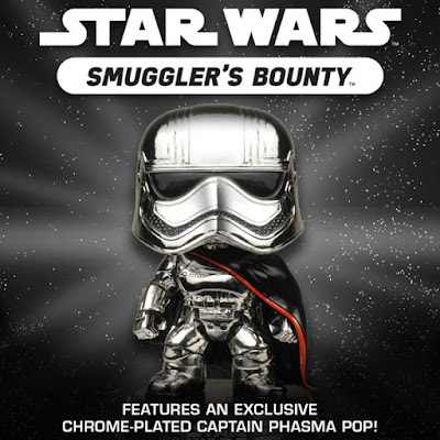 Star Wars Smuggler's Bounty Exclusive Chrome Captain Phasma Pop! Vinyl Figure by Funko