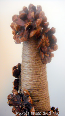 Jute and Pinecone Flower Tree