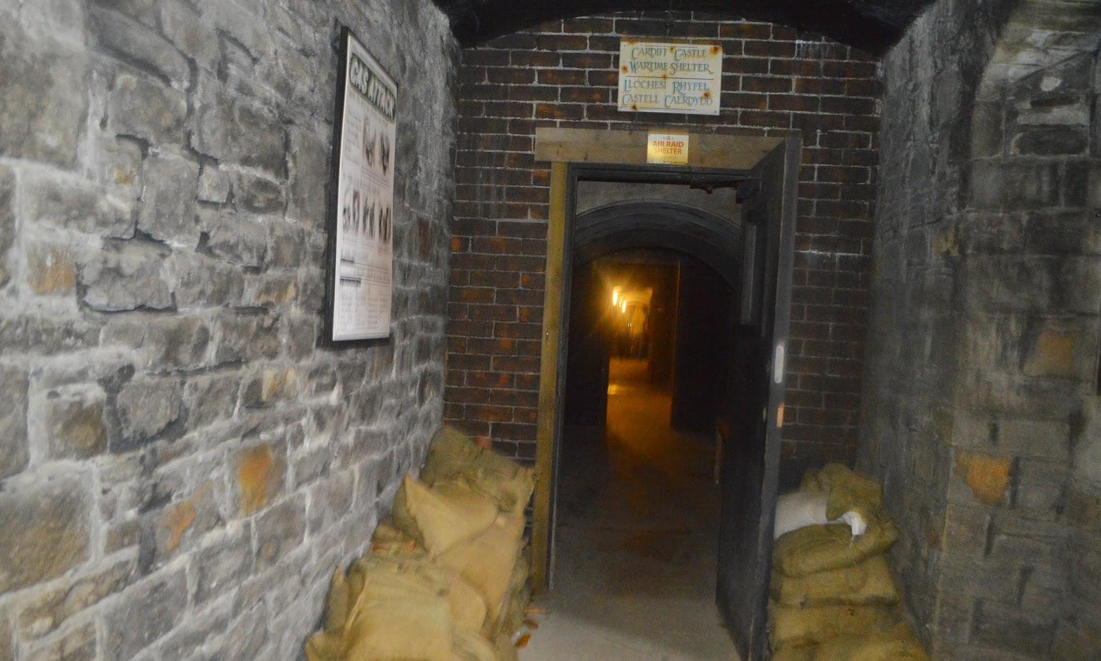 The War Shelter Tunnels Cardiff Castle Wales World War 2