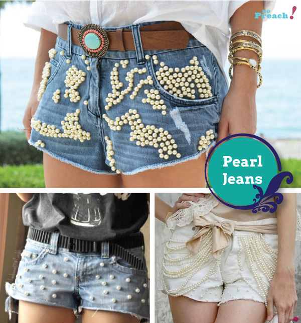 pérolas - shorts jeans diy - do it yourself - faça você mesmo